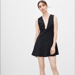 Aritizia Wilfred Montbrun Vegan Suede Black Dress